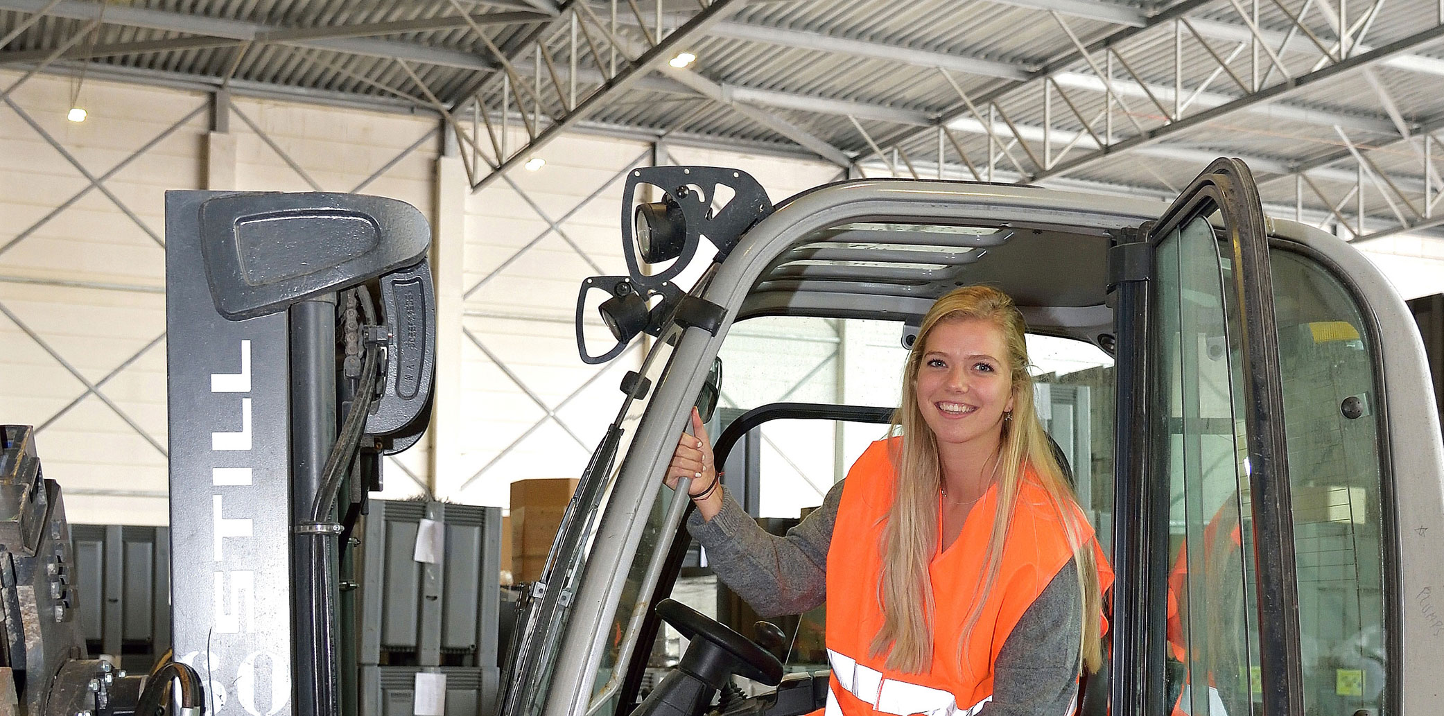 CVB girl forklift